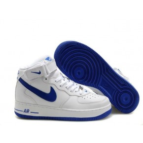 Nike Air Force 1 High White Blue Shoes