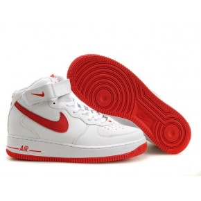 Nike Air Force 1 High White Bright Red Shoes