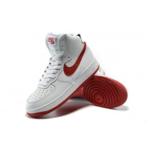 Nike Air Force 1 High White Red Shoes