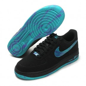 Nike Air Force 1 Low Black Blue Colorful Shoes
