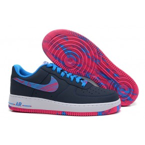 Nike Air Force 1 Low Black Blue Red Shoes