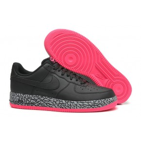 Nike Air Force 1 Low Black Grey Red Shoes