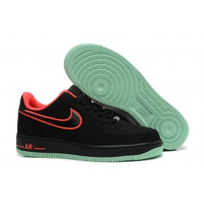Nike Air Force 1 Low Black Red Shoes