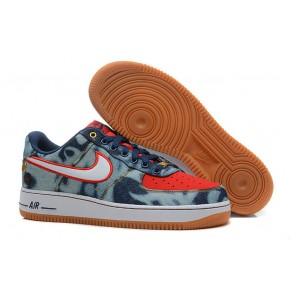 Nike Air Force 1 Low Blue Redish Orange Shoes