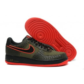 Nike Air Force 1 Low Coffe Black Red Shoes