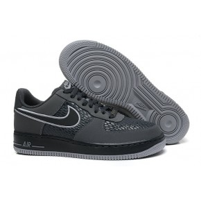 Nike Air Force 1 Low Grey Black Shoes