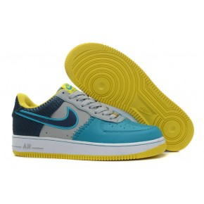 Nike Air Force 1 Low Grey Blue Yellow Shoes