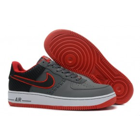 Nike Air Force 1 Low Grey Red White Shoes