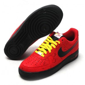 Nike Air Force 1 Low Hot Red Black Yellow Shoes