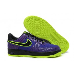 Nike Air Force 1 Low Purple Black Fluorscent Green Shoes