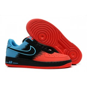 Nike Air Force 1 Low Red Black Blue Shoes