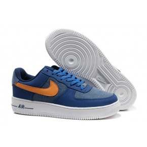 Nike Air Force 1 Low Suede Blue Orange White Shoes