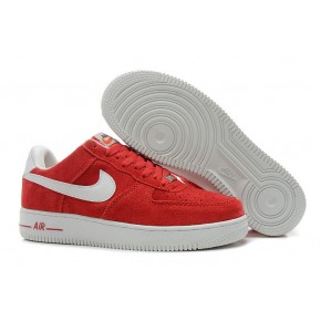 Nike Air Force 1 Low Suede Red White Shoes
