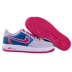 Nike Air Force 1 Low White Blue Red Shoes