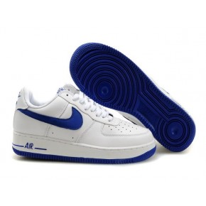 Nike Air Force 1 Low White Blue Swoosh Shoes