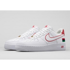 Nike Air Force 1 Low White Red Shoes