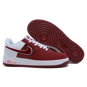 Nike Air Force 1 Low Wine Red White Shoes