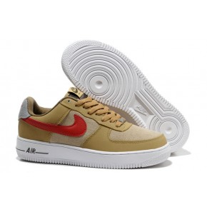 Nike Air Force 1 Low Yellow White Red Shoes
