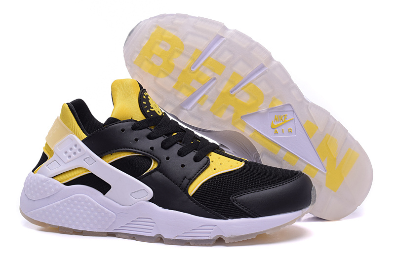 Nike Air Huarach Berlin Black Yellow White Shoes