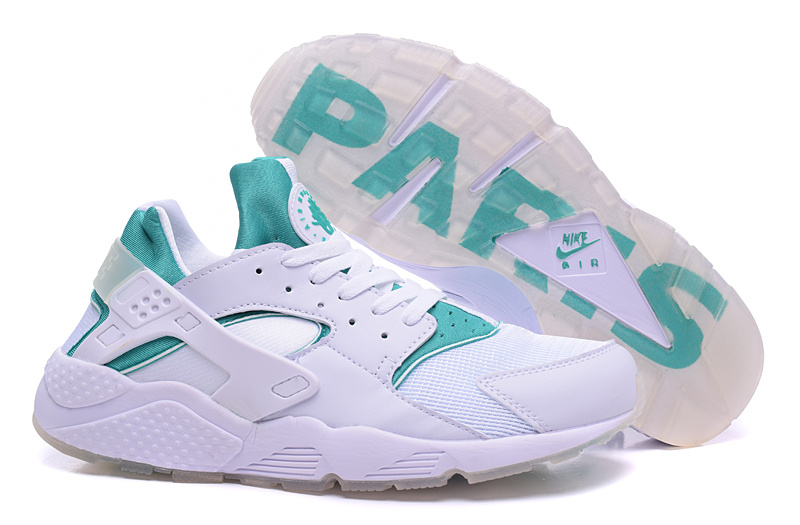 Nike Air Huarach Paris White Green Shoes