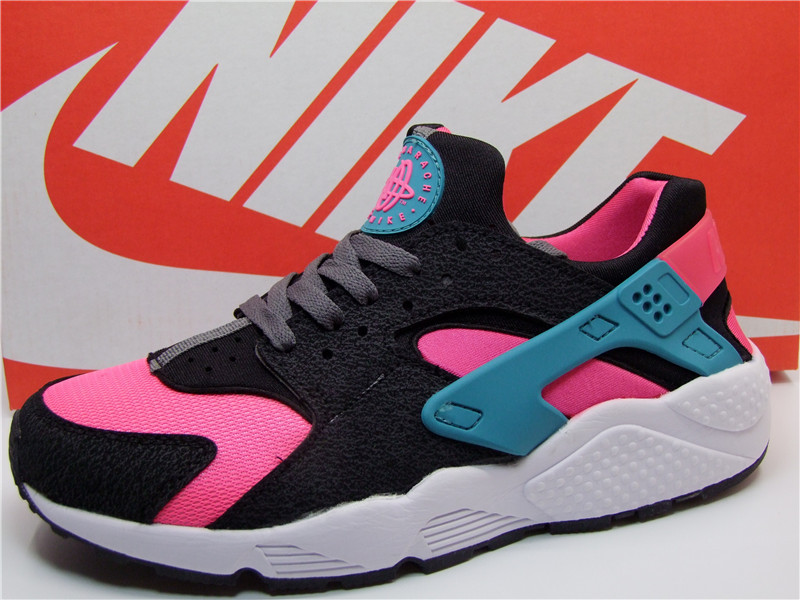 Nike Air Huarache 1 Black Pink Blue White Shoes