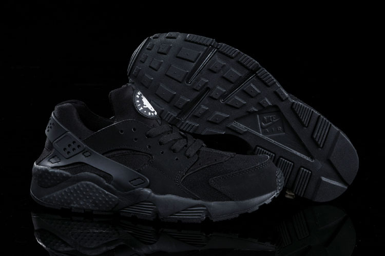 Nike Air Huarache All Black Women Running Shoes