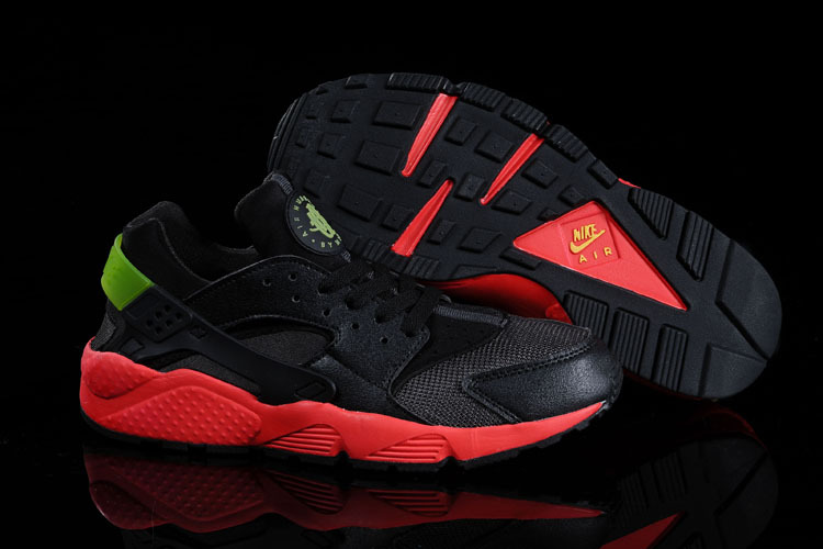 Nike Air Huarache Black Red Green Women Running Shoes