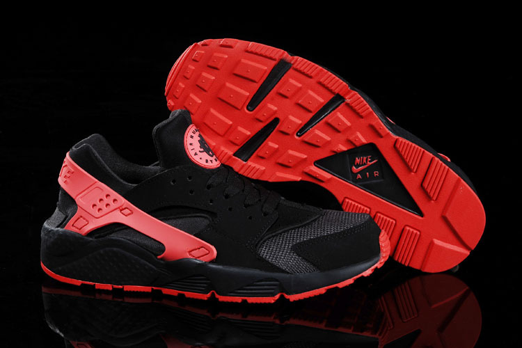 Nike Air Huarache Black Red Women Running Shoes