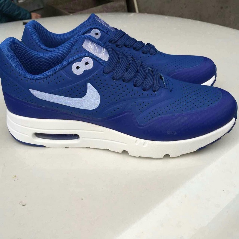 Limited Nike Air Max 1 Ultra Moire Blue White Shoes
