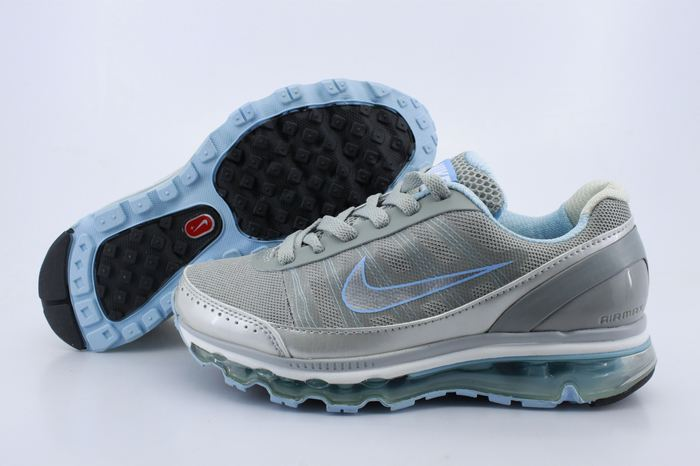 Women Nike Air Max 2009 2 Grey Silver Baby Blue