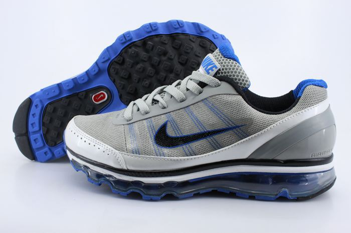 Men Nike Air Max 2009 2 Grey Siver Blue