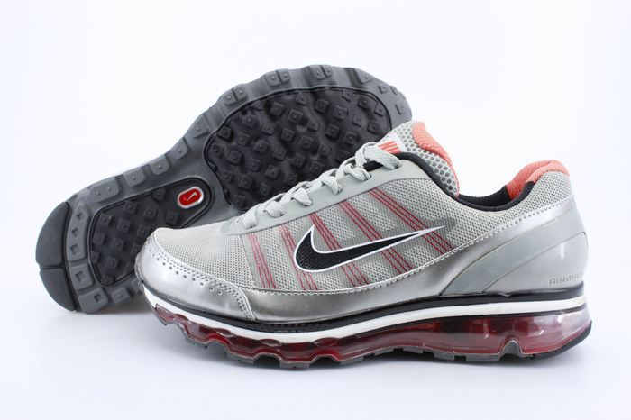 Men Nike Air Max 2009 2 Grey Siver Red
