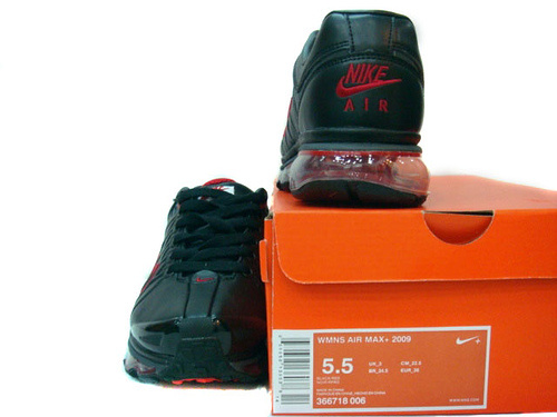 Women Nike Air Max 2009 3 Black Red