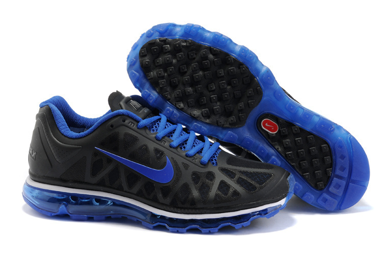 Nike Air Max 2011 Black Blue Logo