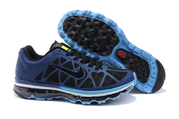 Nike Air Max 2011 Black Dark Blue Women Shoes