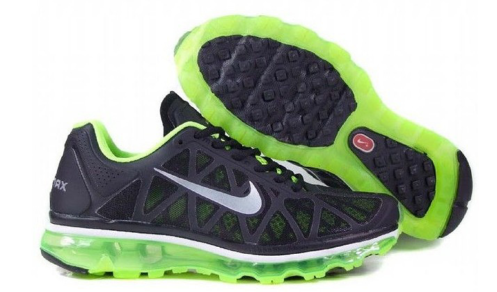 Nike Air Max 2011 Black Green Women Shoes