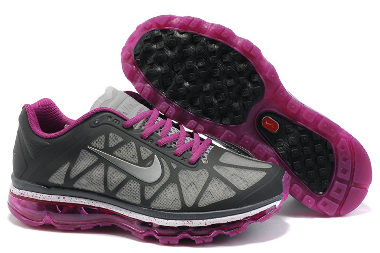 Women Nike Air Max 2011 Black Grey Purple Shoes