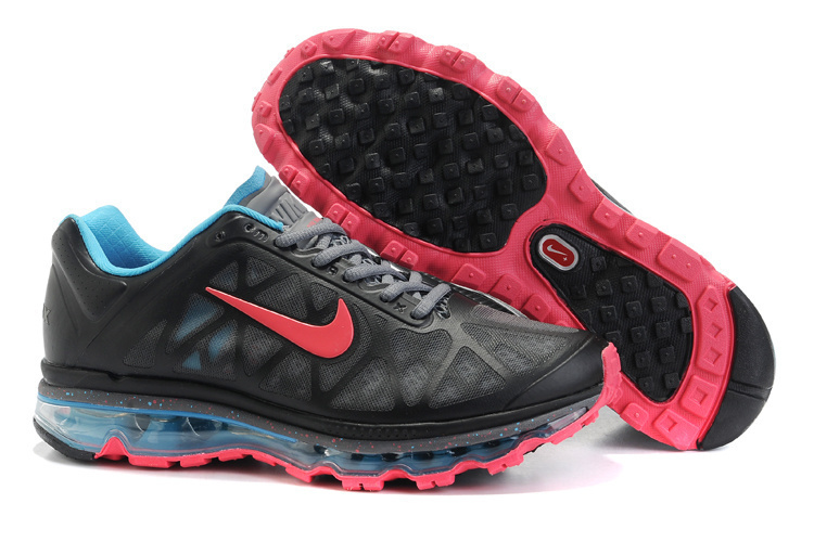 Women Nike Air Max 2011 Black Pink Blue Shoes