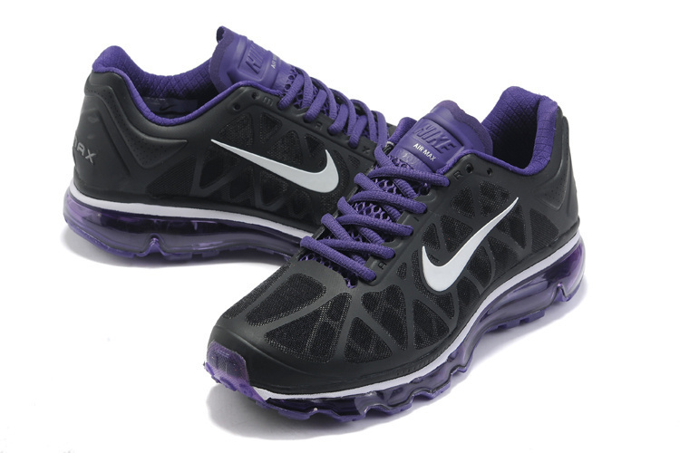 Women Nike Air Max 2011 Black Purple Shoes