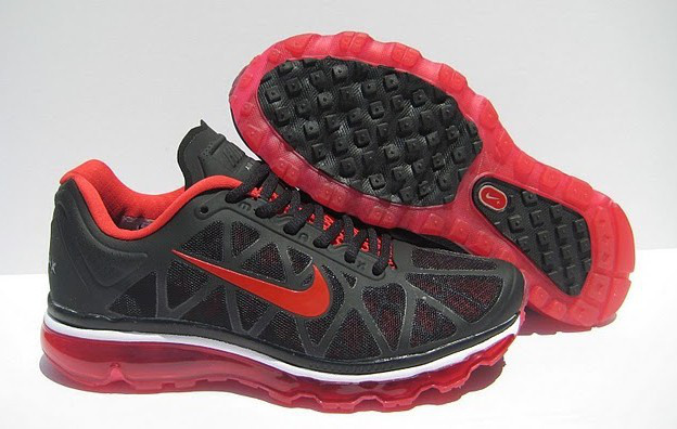 Nike Air Max 2011 Black Red Women Shoes