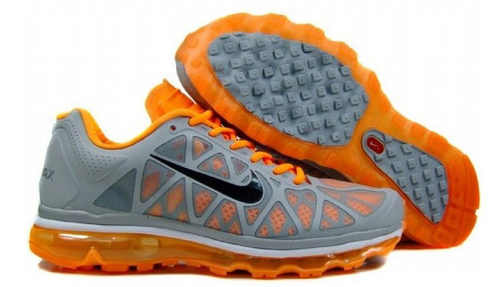 Nike Air Max 2011 Grey Orange Black Women Shoes
