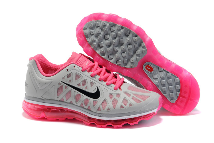 Women Nike Air Max 2011 Grey Pink Black Shoes