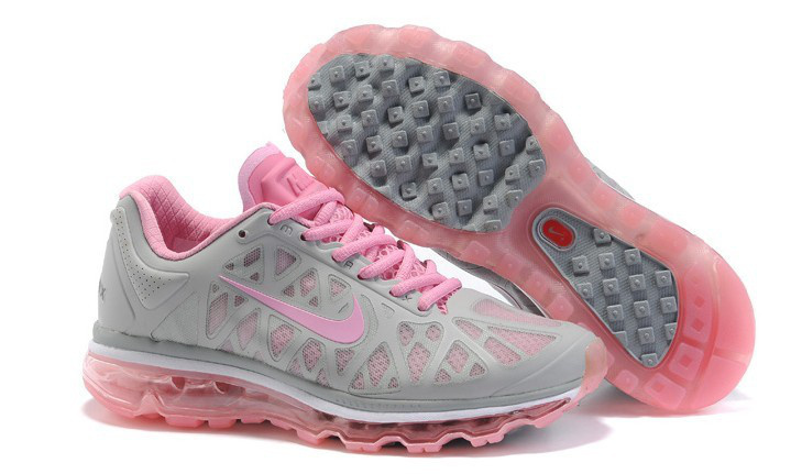 Women Nike Air Max 2011 Grey Pink Shoes