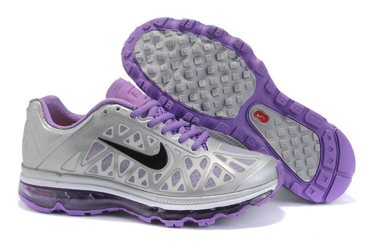 Women Nike Air Max 2011 Grey Purple Black Shoes