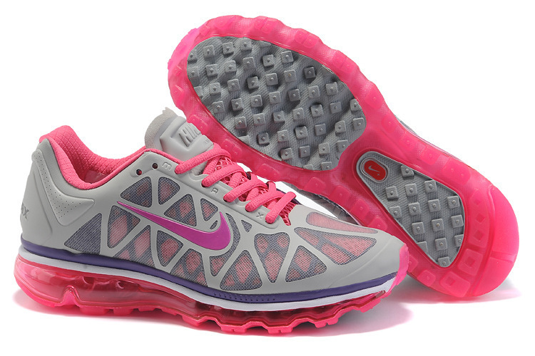 Women Nike Air Max 2011 Grey Red Pink Shoes