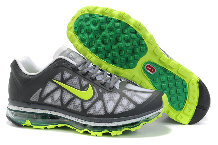 Nike Air Max 2011 Grey White Yellow Women Shoes