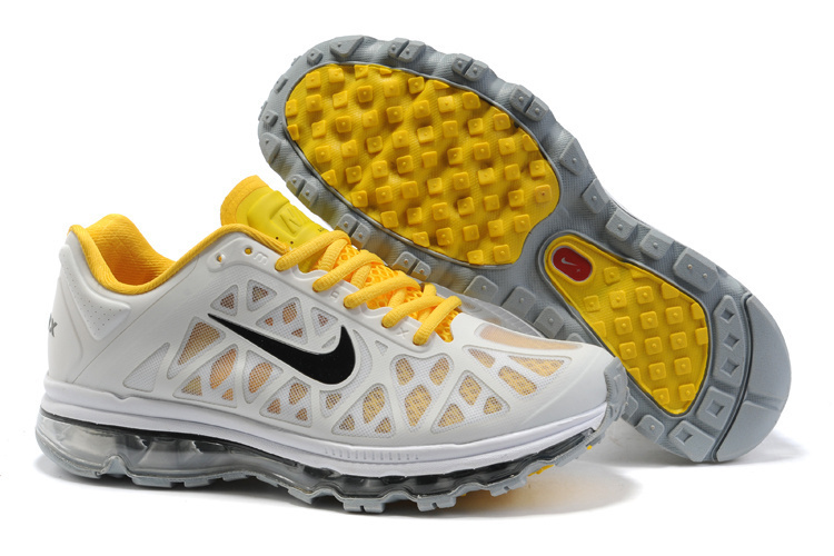 Nike Air Max 2011 Grey Yellow Black Logo