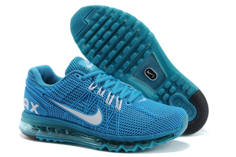 Nike Air Max 2013 All Blue Running Shoes