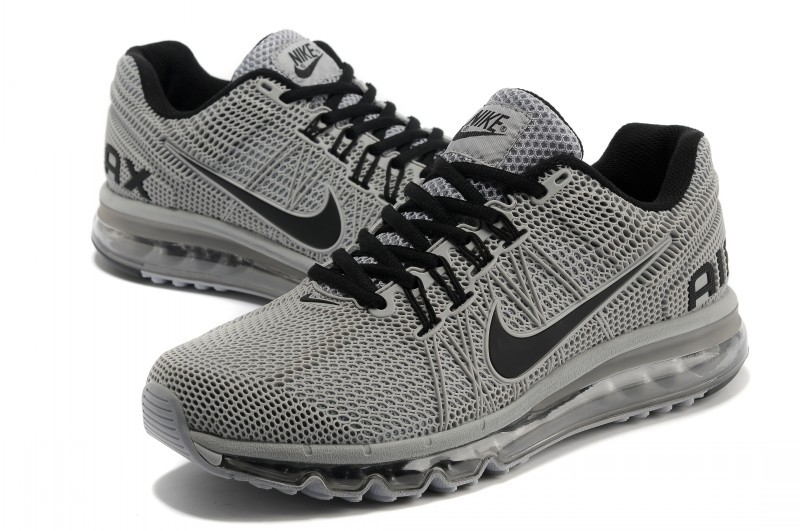 Nike Air Max 2013 All Grey Black Running Shoes