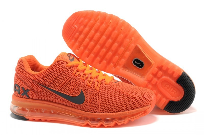 Nike Air Max 2013 All Orange Running Shoes